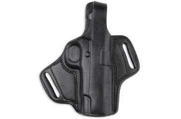 Bulldog Cases Right Hand Black Molded Auto Leather Holster with Thumb Break, X-Small LMH-XS