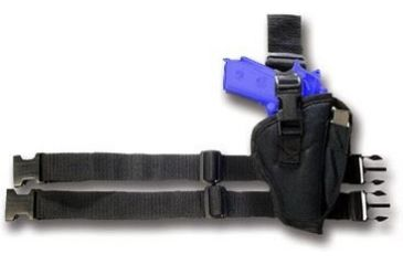 Bulldog Right Hand Black Tactical Leg Holster - Size 7 WTAC-7