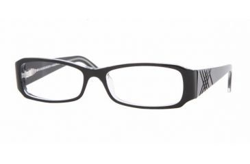Burberry BE 2043 Eyeglasses Styles Black Top On Clear Frame w/Non-Rx 50 mm Diameter Lenses, 3029-5015