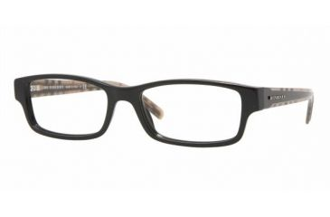 Burberry BE 2066 Eyeglasses w/ Black Frame w/Non-Rx 52 mm Diameter Lenses, 3177-5217