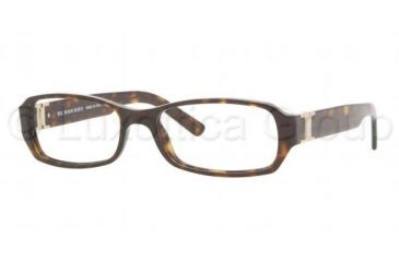 Burberry BE 2082A Eyeglasses Styles - Havana Frame w/Non-Rx 53 mm Diameter Lenses, 3002-5316