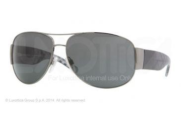 Burberry BE3020M 61 BE3020M Single Vision Prescription Sunglasses BE3020M-100387-64 - Lens Diameter 64 mm, Frame Color Gunmetal