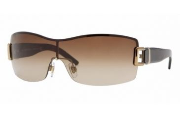 Burberry BE 3037 Sunglasses Styles Burberry Gold Frame / Brown Gradient Lenses, 100213-0131