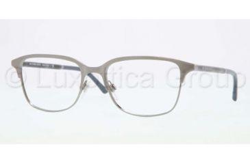 Burberry BE1250 Single Vision Prescription Eyeglasses 1008-5418 - Brushed Nickel Frame, Demo Lens Lenses