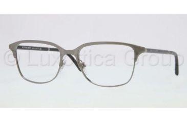Burberry BE1250 Single Vision Prescription Eyeglasses 1175-5418 - Nickel Frame, Demo Lens Lenses