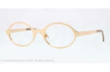 Burberry BE1254 Single Vision Prescription Eyeglasses 1017-50 - Gold Frame, Demo Lens Lenses