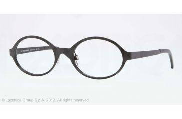 Burberry BE1254 Single Vision Prescription Eyeglasses 1180-50 - Black Frame, Demo Lens Lenses