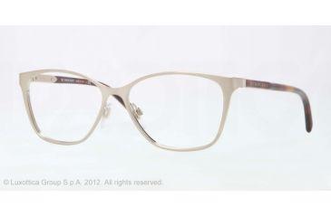 Burberry BE1255 Bifocal Prescription Eyeglasses 1167-53 - Brushed Burberry Gold Frame, Demo Lens Lenses