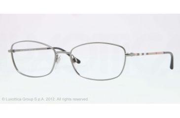Burberry BE1256 Single Vision Prescription Eyeglasses 1003-51 - Gunmetal Frame, Demo Lens Lenses