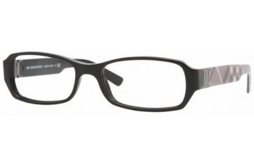 Burberry BE2082A #3001 - Shiny Black Frame, Demo Lens Lenses
