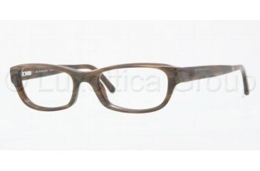 Burberry BE2096 Eyeglass Frames 3022-5117 - Brown Horn Striped