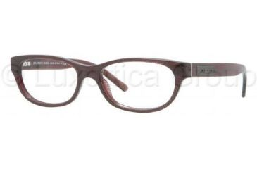 Burberry BE2106 Progressive Prescription Eyeglasses 3224-5115 - Striped Violet Frame