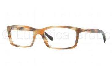 ada8d3f3c3 Burberry BE2117 Bifocal Prescription Eyeglasses 3334-5318 - Striped Havana  Frame