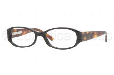 Burberry BE2118 Single Vision Prescription Eyeglasses 3329-5016 - Black Frame