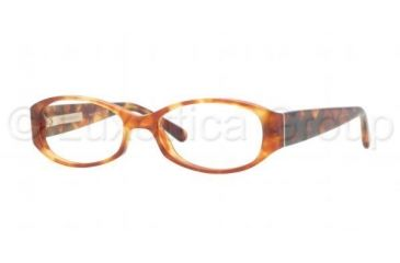 Burberry BE2118 Single Vision Prescription Eyeglasses 3330-5016 - Light Havana Frame