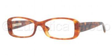 Burberry BE2119 Single Vision Prescription Eyeglasses 3330-5116 - Light Havana Frame