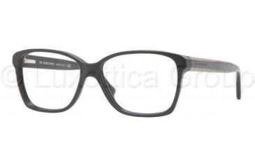 Burberry BE2121 Single Vision Prescription Eyeglasses 3001-5214 - Black Frame