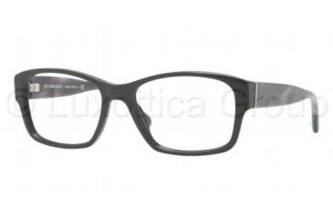 Burberry BE2127 Single Vision Prescription Eyeglasses 3001-5217 - Black Frame