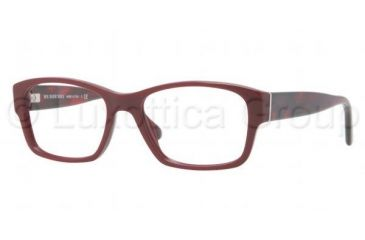 Burberry BE2127 Single Vision Prescription Eyeglasses 3317-5217 - Bordeaux Frame
