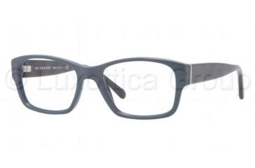 Burberry BE2127 Single Vision Prescription Eyeglasses 3355-5217 - Blue Frame