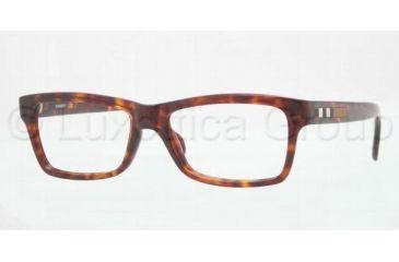 Burberry BE2135 Single Vision Prescription Eyeglasses 3349-5316 - Havana Frame