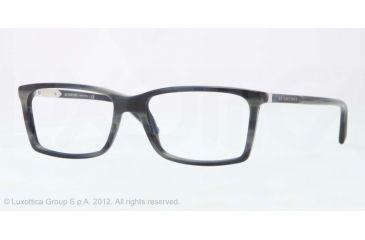 Burberry BE2139 Eyeglass Frames 3401-52 - Gray Horn Frame, Demo Lens Lenses