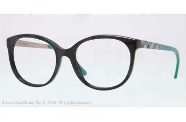 Burberry BE2142 Eyeglass Frames 3001-51 - Black Frame, Demo Lens Lenses