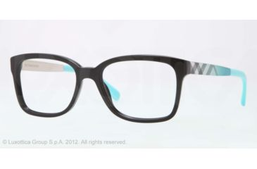 Burberry BE2143 Bifocal Prescription Eyeglasses 3001-53 - Black Frame, Demo Lens Lenses