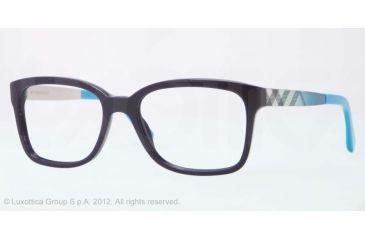Burberry BE2143 Bifocal Prescription Eyeglasses 3399-53 - Blue Frame, Demo Lens Lenses