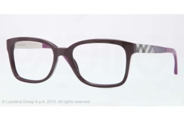 Burberry BE2143 Bifocal Prescription Eyeglasses 3400-53 - Violet Frame, Demo Lens Lenses