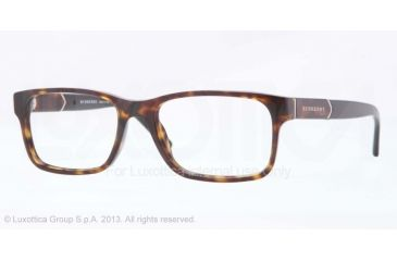 Burberry BE2150 Single Vision Prescription Eyeglasses 3002-53 - Dark Havana Frame