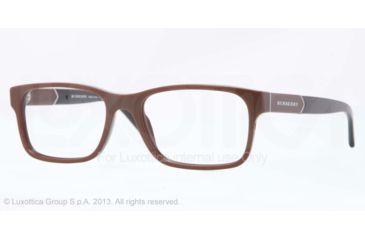Burberry BE2150 Single Vision Prescription Eyeglasses 3404-53 - Brown Frame