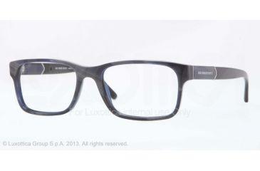 Burberry BE2150 Single Vision Prescription Eyeglasses 3419-53 - Blue Horn Frame