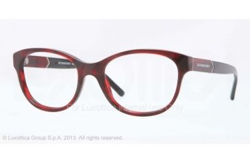 Burberry BE2151 Eyeglass Frames 3322-52 - Red Havana Frame