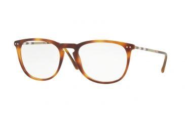 225900806b Burberry BE2258Q Single Vision Prescription Eyeglasses 3316-53 - Light  Havana Frame