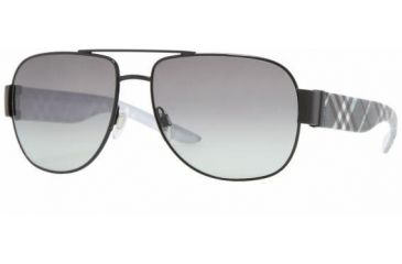 Burberry BE3042 #100111 - Black Frame, Gray Gradient Lenses