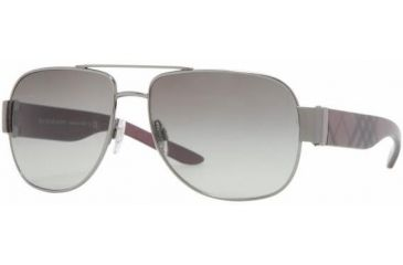 Burberry BE3042 #100311 - Gunmetal Frame, Gray Gradient Lenses