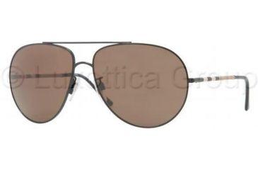 Burberry BE3055 Single Vision Prescription Sunglasses BE3055-100173-6014 - Lens Diameter 60 mm, Frame Color Black