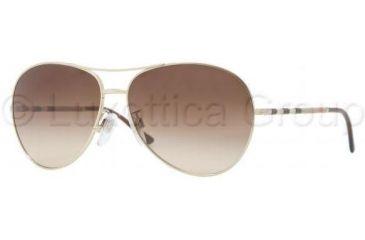 Burberry BE3056 Single Vision Prescription Sunglasses BE3056-100213-5713 - Frame Color Pale Gold, Lens Diameter 57 mm