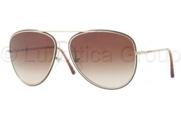 Burberry BE3062 Sunglasses 114513-5915 - Burberry Gold Frame, Brown Gradient Lenses