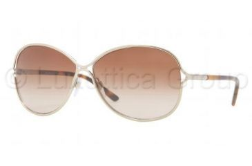 Burberry BE3066 Sunglasses 114513-6013 - Burberry Gold Frame, Brown Gradient Lenses
