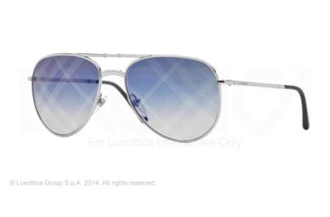 Burberry BE3071 Single Vision Prescription Sunglasses BE3071-1005B2-57 - Lens Diameter 57 mm, Frame Color Silver