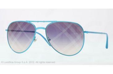 Burberry BE3071 Single Vision Prescription Sunglasses BE3071-1176B2-57 - Lens Diameter 57 mm, Lens Diameter 57 mm, Frame Color Blue