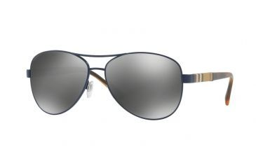 e47a978354 Burberry BE3080 Sunglasses 12346G-59 - Matte Blue Frame