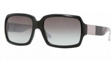 Burberry BE4076 Progressive Sunglasses, Black Frame, Gray Gradient #316711