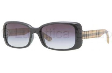 Burberry BE4087 Single Vision Prescription Sunglasses BE4087-30018G-5416 - Frame Color Black, Lens Diameter 54 mm