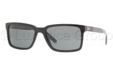 Burberry BE4097 Single Vision Prescription Sunglasses BE4097-324187-5517 - Lens Diameter 55 mm, Frame Color Black