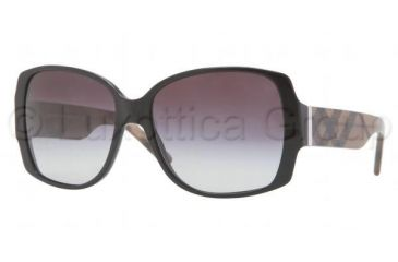 Burberry BE4105M Progressive Prescription Sunglasses BE4105M-33468G-5816 - Frame Color Black, Lens Diameter 58 mm