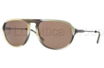 Burberry BE4116 Single Vision Prescription Sunglasses BE4116-331873-5918 - Lens Diameter 59 mm, Frame Color Green Horn