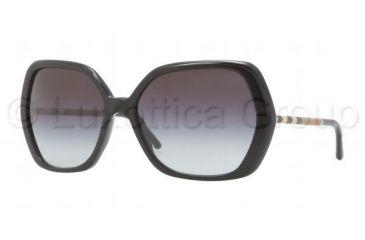 3a12decf7f70 Burberry BE4122 Sunglasses 30018G-6016 - Black Frame, Gray Gradient Lenses